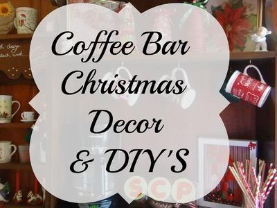 Coffee bar Christmas decor with DIY