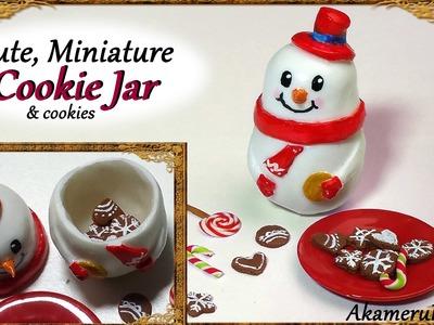 Cute, Miniature (Snowman) Cookie jar - Polymer Clay Tutorial