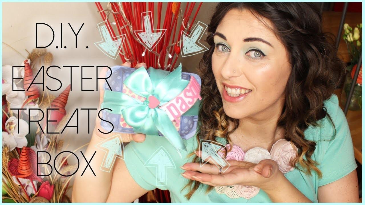 D.I.Y. Easter treats box ♡ Contenitore di regali pasquale