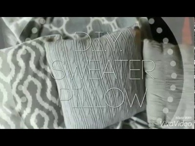D.I.Y. SWEATER PILLOW