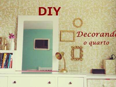 Decorando o quarto - DIY - com papel de presente