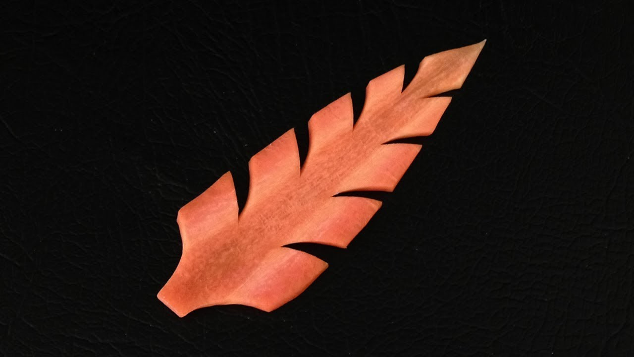Design 2 Simple Carrot Leaf - Beginners 34 By Mutita Thai Art Of Fruit And Vegetable Carving