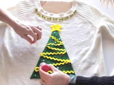 DIY 5 Minute Ugly Christmas Sweater - No Sew
