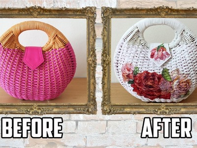 DIY: Bag Transformation with Paint and  Decoupage - Sustainable Patch