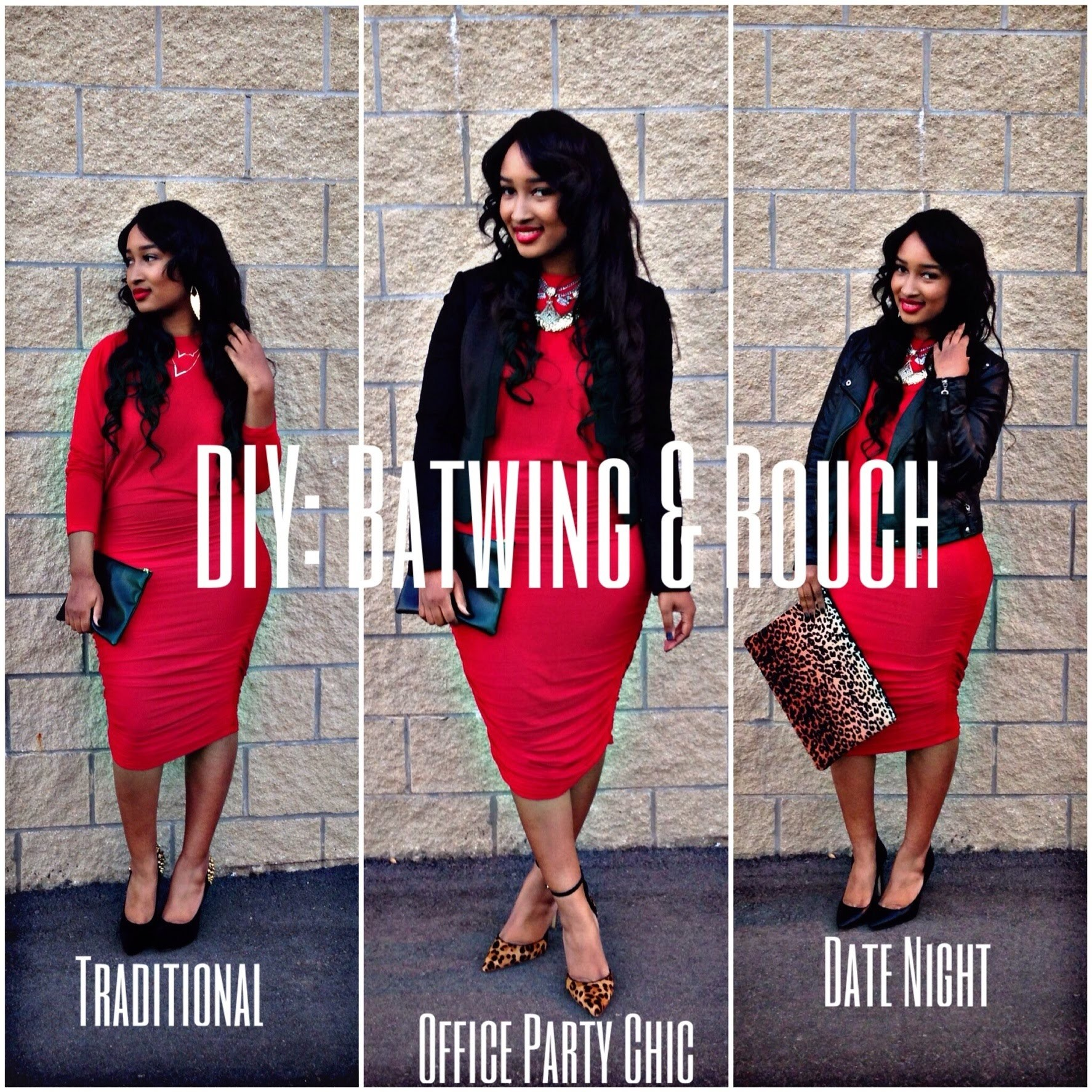 DIY: Batwing & Rouch Dress