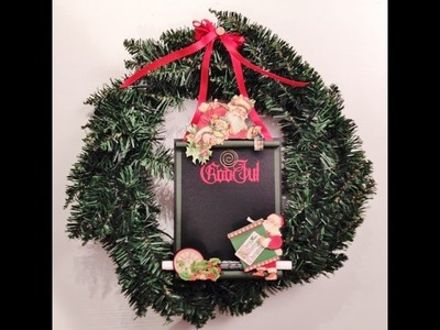 DIY Christmas Chalk Memo Board tutorial