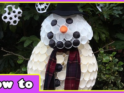 DIY Christmas Crafts | Paper Cup Snowman | Build a Snowman with HooplaKidz How To