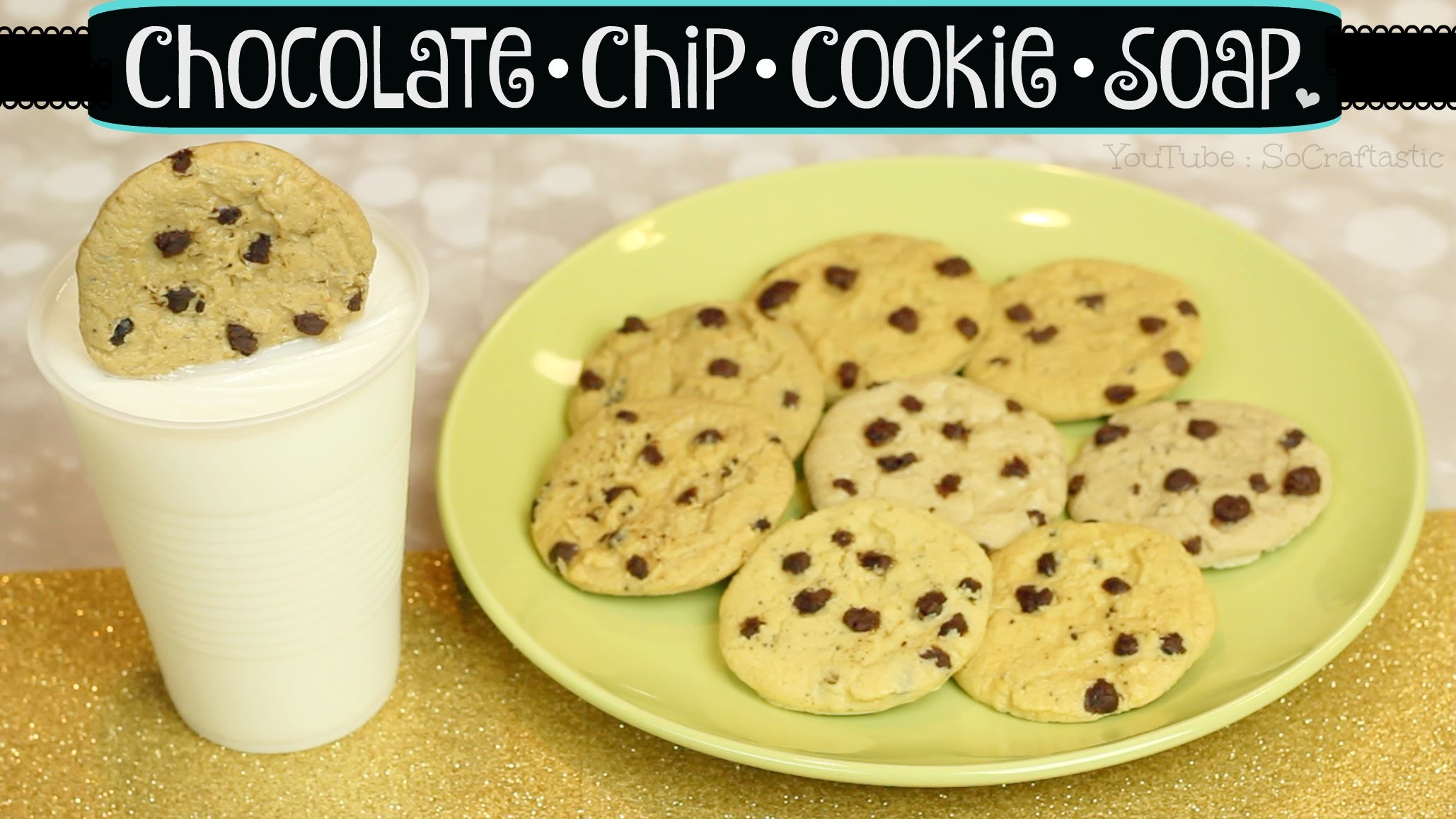 DIY Cookie Soap. Chocolate Chip Cookies & Milk. Melt & Pour Soap Making How To