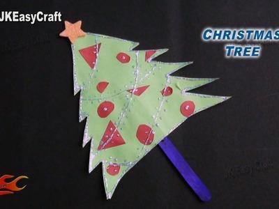 DIY Easy Ice Cream Stick Christmas Tree   How to make   JK Easy Craft 110