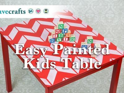 DIY Easy Painted Kids Table