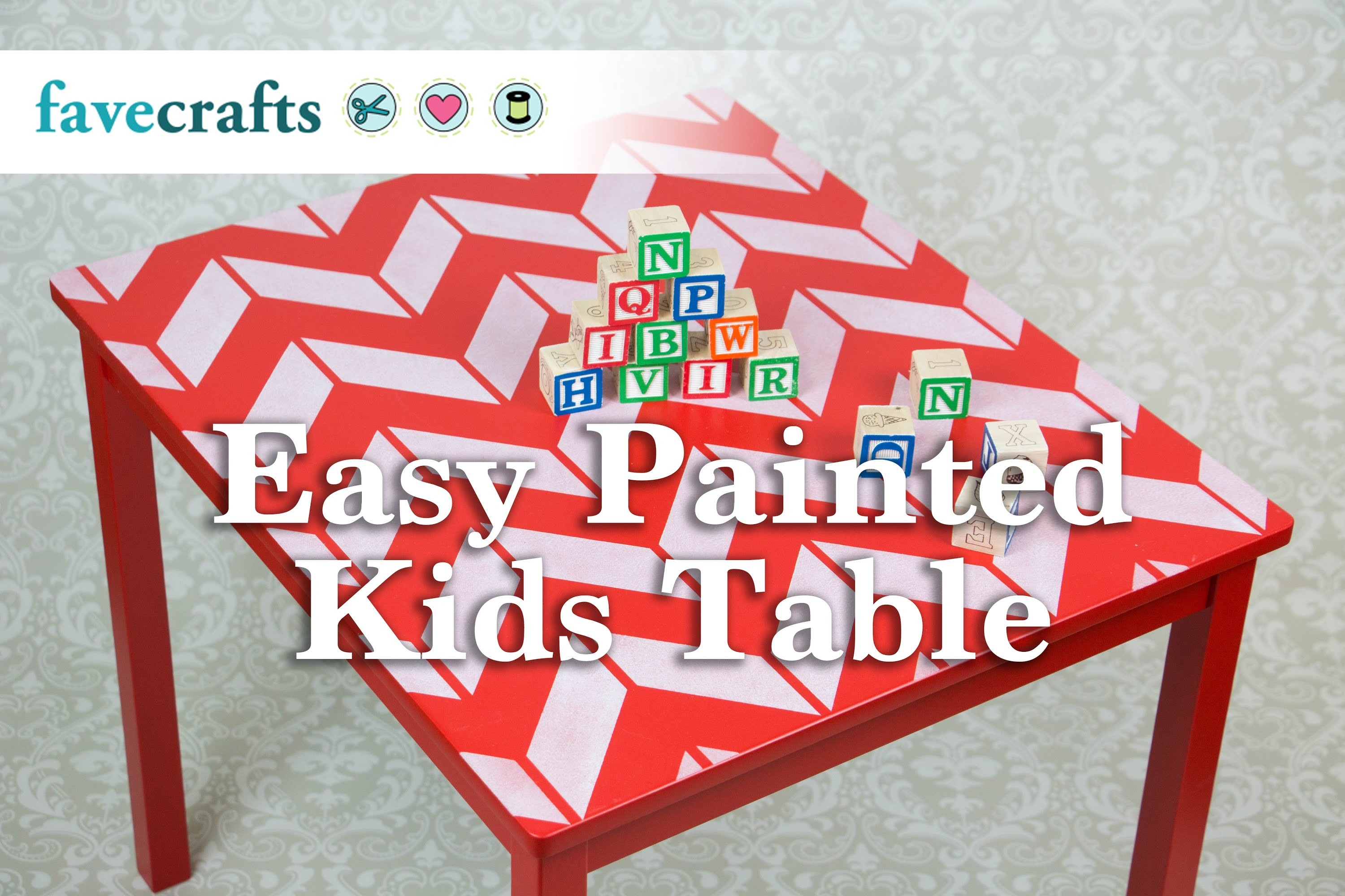 DIY Easy Painted Kids Table