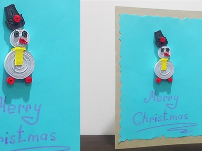 DIY Easy Snowman Christmas Greeting Card | School Project for Kids