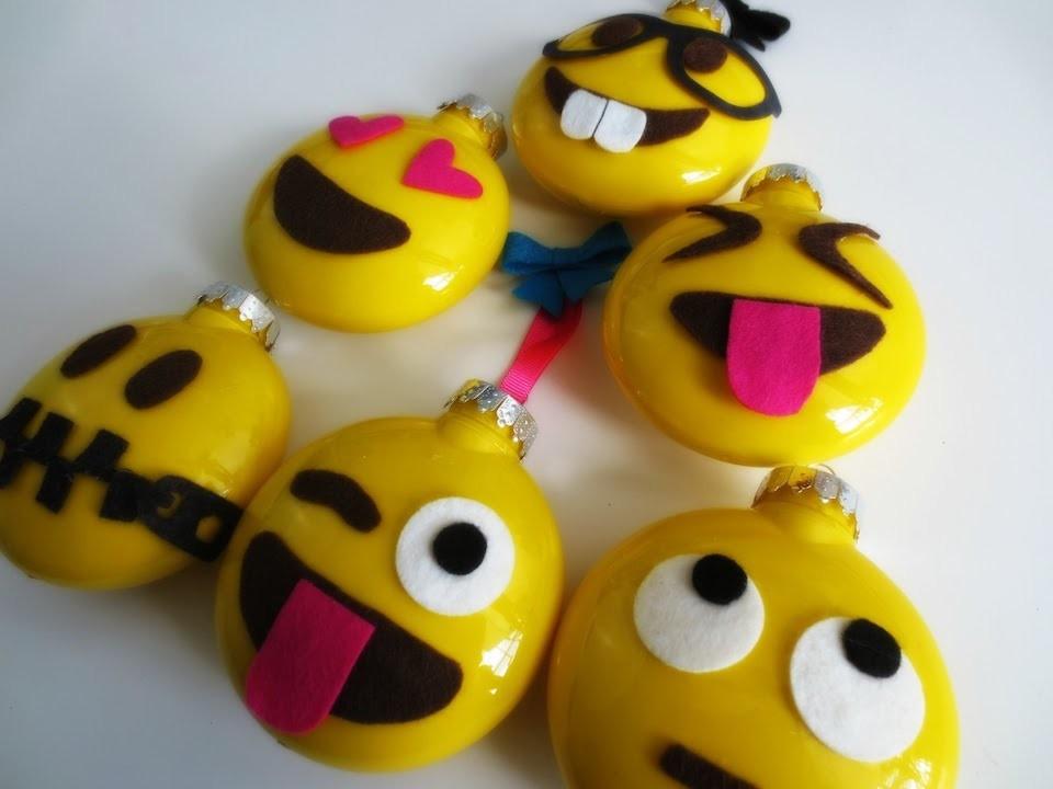 DIY Emoji Ornaments | Kid craft featuring A