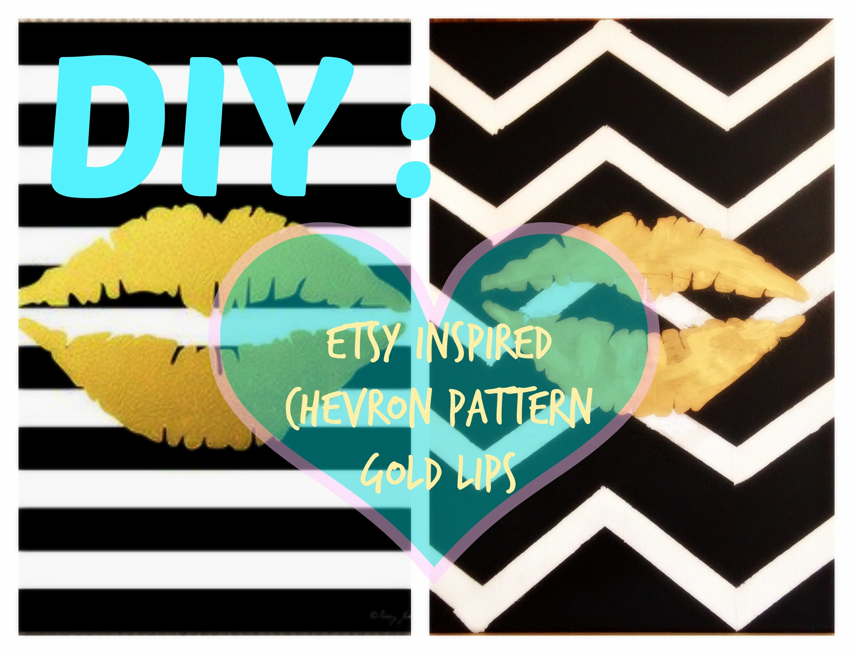 ♡♡ DIY: Etsy Inspired Chevron Room Decor ♡♡