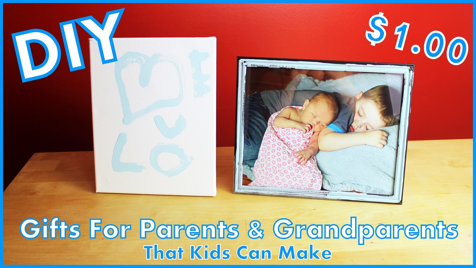 DIY Gifts For Parents & Grandparents That Kids Can Make | Christmas | #diyczokamas