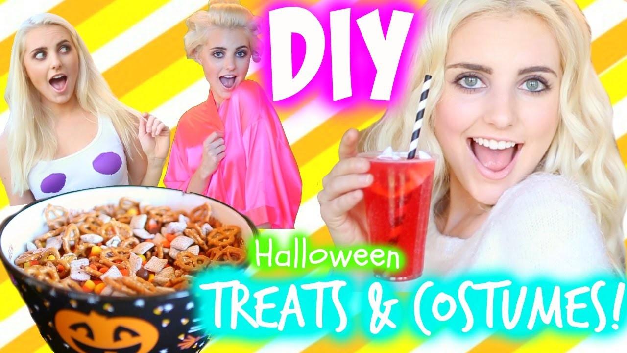 DIY Halloween Treats & Last Minute Costume Ideas!   Aspyn Ovard