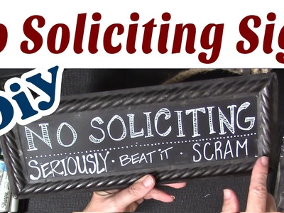 DIY Hand Lettered No Soliciting Sign