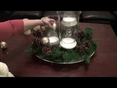 DIY Holiday Decorating with Flameless Candles: The Hurricane Vases and a Garland