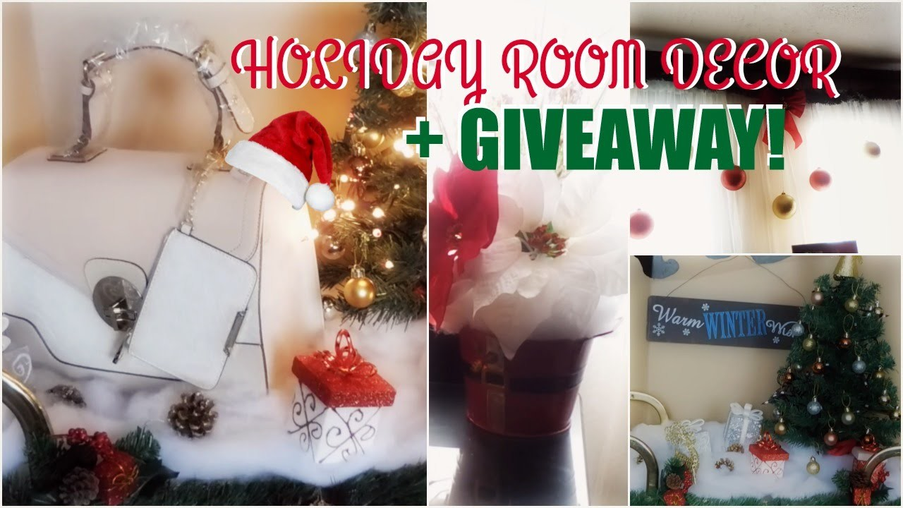 DIY Holiday Room Decor! Cute & Affordable Christmas Decorations+Giveaway!