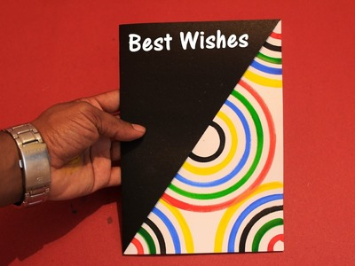 DIY - How to make a Greeting Card - 2016 - Rainbow Greeting Card