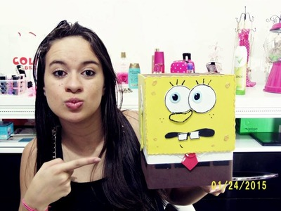 DIY: lixeira do Bob Esponja