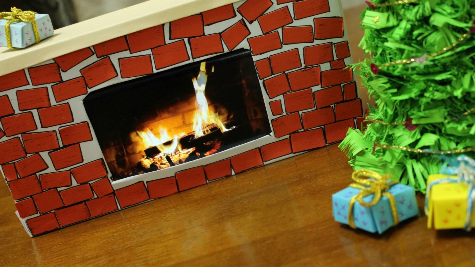 DIY mini tree and fireplace