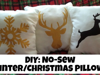 DIY: No-Sew Winter.Christmas Pillows