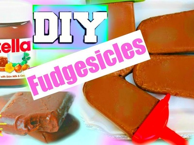 DIY: NUTELLA FUDGESICLES! Easy Under 2 Min!