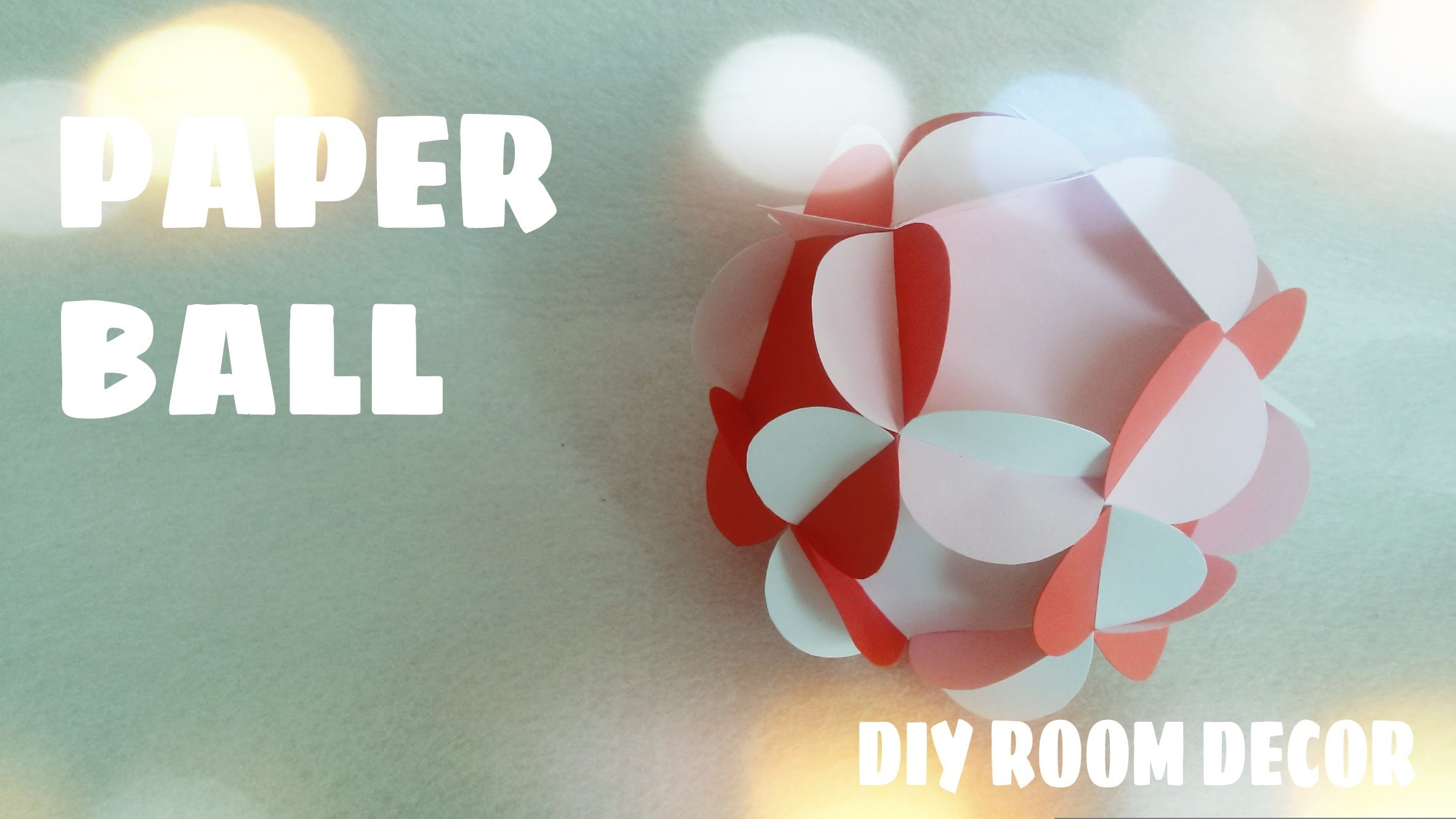 DIY Room Decor - 3D Paper Ball Tutorial