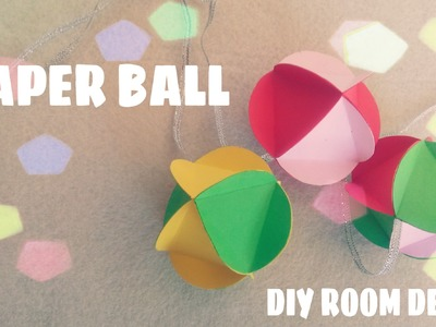 DIY Room Decor - How to make 3D Paper Ball Ornament