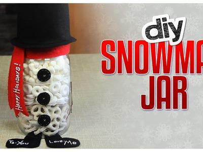 DIY Snowman Snack Jar - Do It, Gurl