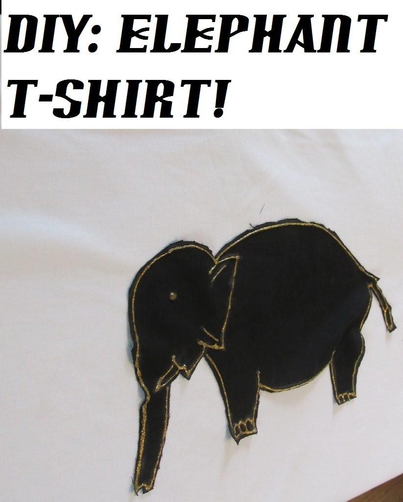 DIY: T-SHIRT DECOR, ELEPHANT T-SHIRT!