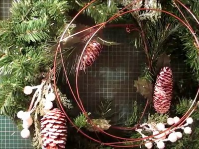 DIY.tutorial How to make a Christmas Wreath from scratch for ve