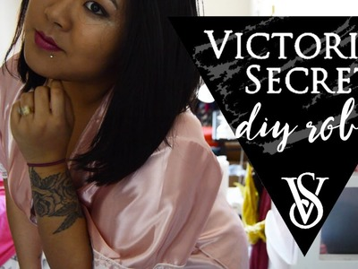 DIY Victoria's Secret Inspired Silk Robe. Look For Less Inspired By Gabi From NIKIANDGABIBEAUTY