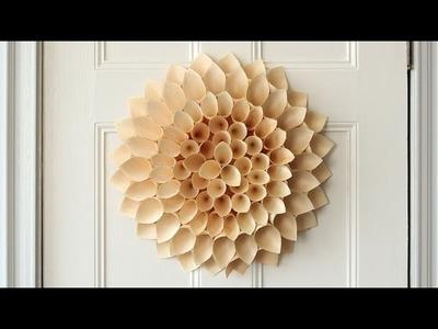 DIY Wooden Cone Wreath