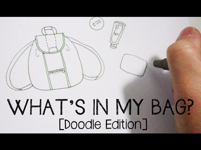 Doodle with Me: What's In My Bag!? Doodle Edition | Sarazorel
