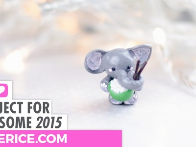 Elephant Eating Rice (Polymer Clay Tutorial) - P4A 2015
