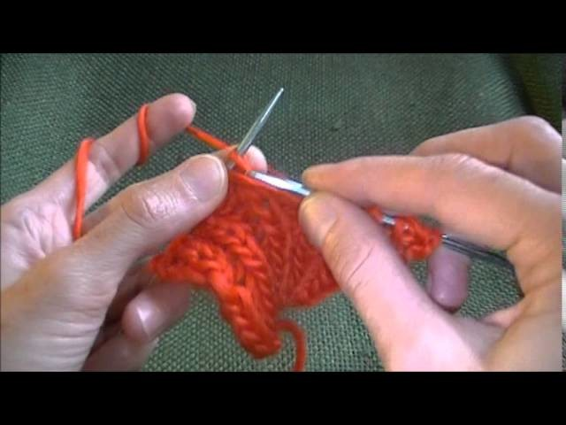 English Rib Stitch Brioche Addition on the side