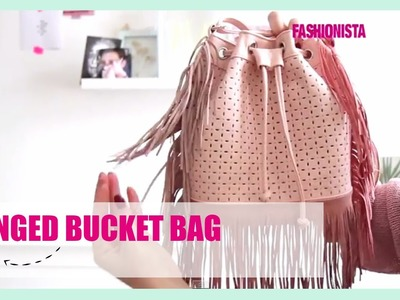 Fashionista DIY: Fringed Bucket Bag