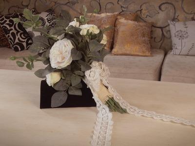 Flowers & Floristry Tutorial: Informal Garden Roses Bouquet