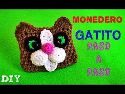 Gatito Monedero TEJIDO !! Kitten Coin Purse!! CROCHET