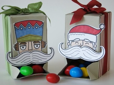 Gift Box Punch Board Candy Dispenser