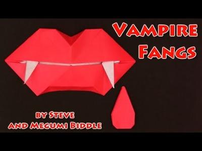 Halloween Origami VAMPIRE FANGS- Yakomoga Halloween Origami tutorial