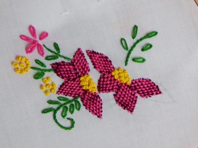 Hand Embroidery: Checkered Flower Stitch