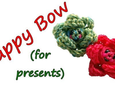 Happy BOW for presents Tutorial by feelinspiffy (Rainbow Loom)