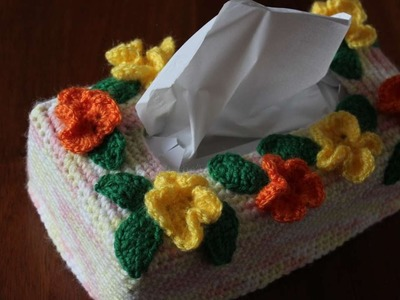 How To Crochet A Pretty Flower Tissue Box Cover - DIY Home Tutorial - Guidecentral