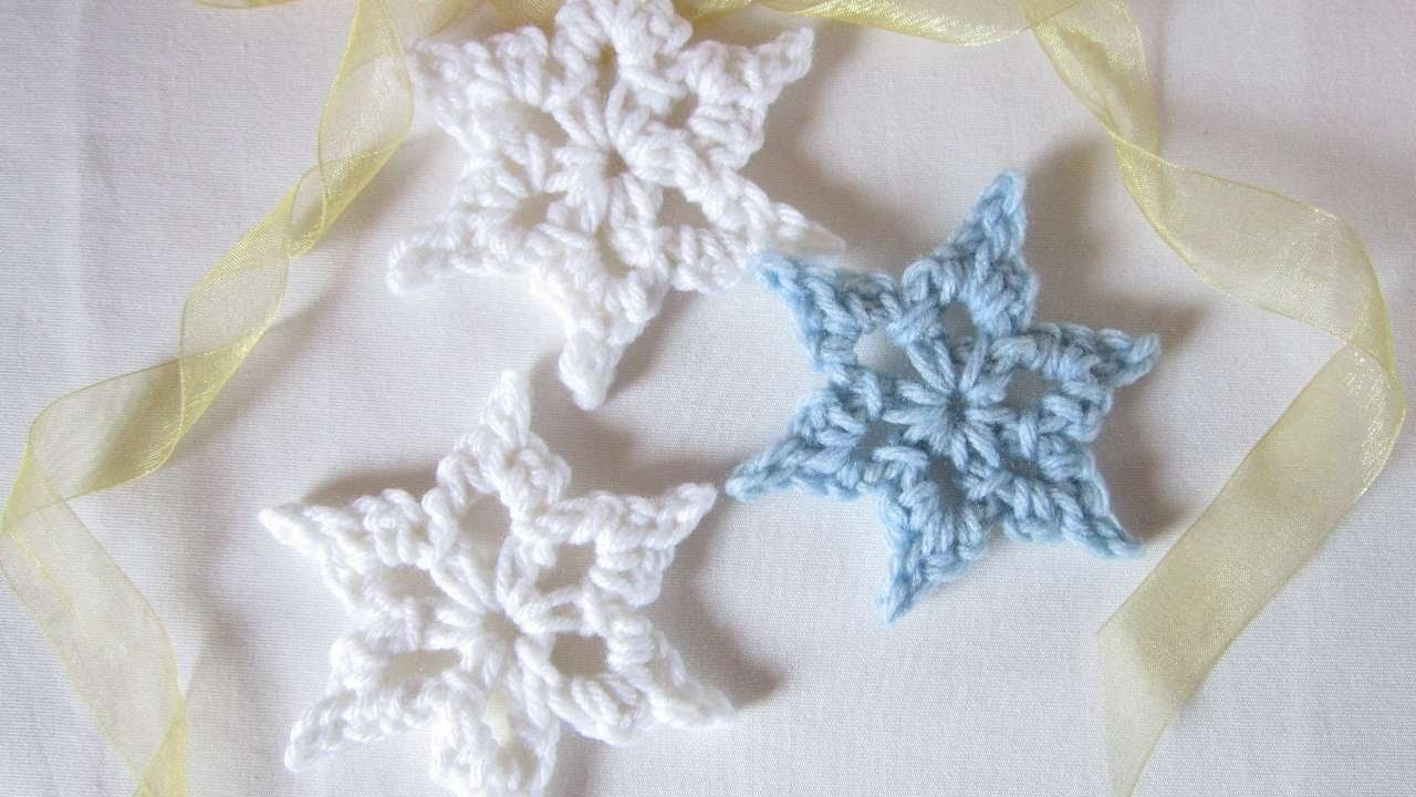 How To Crochet A Simple Snowflake - DIY Crafts Tutorial - Guidecentral