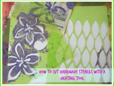 How to cut a stencil with a heating tool. Handmade. DIY Stencils