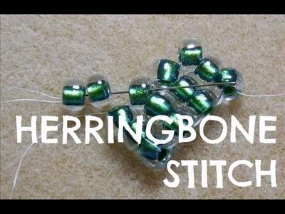 How To Flat Herringbone Stitch Technique | Tutorial