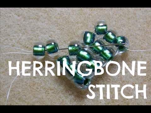 How To Flat Herringbone Stitch Technique   Tutorial